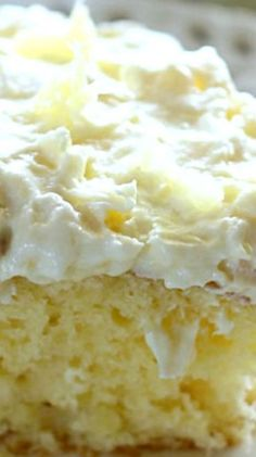 Pineapple Sunshine Cake – A light and fluffy pineapple-infused cake, topped with a sweet and creamy whipped cream frosting. This cake is always a crowd pleaser!