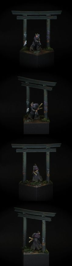 "Yu Jing Miyamoto Musashi (Infinity) ""Like the mini, the diorama, just wish it had been lit a bit more strongly."""
