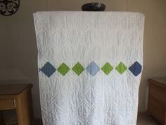 The back of the Sugar Flowers quilt.