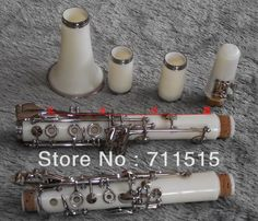 99.75$  Watch here - http://ali0nc.worldwells.pw/go.php?t=693860002 - 17 key buffet bakelite clarinet in B flat surface white color clarinete oboe fast shipping