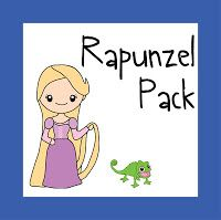 tangled Rapunzel Pack with worksheets for kids 2-7 years old
