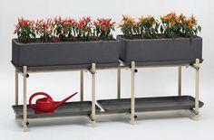 Gallery of Fiber Cement Garden Planters – 7 - Modern Cement Garden, Garden Planters, Garden Fun, Outdoor Sofa, Outdoor Living, Outdoor Decor, Garden Trellis, Metal Furniture, Garden Styles