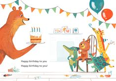 Eve Coy's picture book, The Huffalots , publishes today with the lovely folk at Andersen Press . Colorful Animals, Cute Animals, Birthday Book, Freelance Illustrator, Illustrations And Posters, Children's Book Illustration, Animal Party, Happy Kids, Book Design