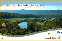 """Front Royal, VA, """"where the Blue Ridge Mountains meet the Shenandoah River"""" Camping Places, Vacation Places, Family Vacations, Shenandoah River, Front Royal, Blue Ridge Mountains, West Virginia, Places To See, Beautiful Places"""