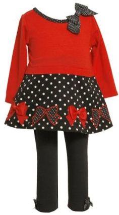 Bonnie Baby-Girls Infant Bow Trim Legging Set - Price: $15.97 - $26.99
