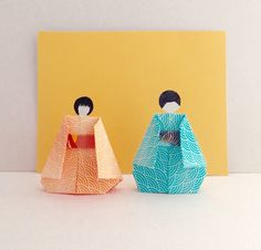Etsy の 折り紙 こども 人形 RS by SelectShopNORA #origami #handmade #Japan #kawaii #cute #kids #doll #lovely #decor