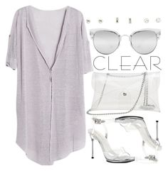 """""""1184."""" by adc421 ❤ liked on Polyvore featuring Quay, Pleaser, Charlotte Russe, clear, seethrough and Seethru"""