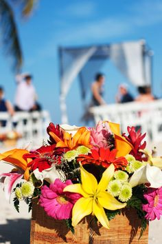Tropical flowers box