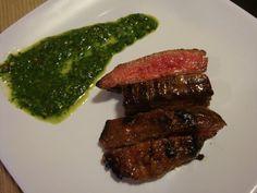 Garlic Brown Sugar Flank Steak with Chimichurri recipe