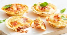 Lasagne in the pie maker? These easy mini lasagne pies will be a hit with kids and adults alike. Lasagne Recipes, Pie Recipes, Turnover Recipes, Recipies, Dinner Recipes, Just Pies, Small Pasta, Savory Muffins, Christmas Party Food