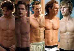Hott men! All in the movie Magic Mike...I will be seeing that movie over...and over again..yum!