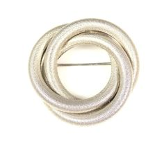 Vintage Layered Silver Mesh Circle Brooch by TheFashionDen on Etsy, $10.00