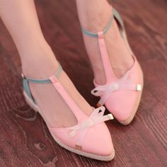 $15.75 pink bow shoes - http://zzkko.com/book/shopping?index=1