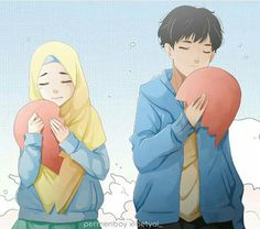 Muslim art cute couple cartoon, anime love couple, couple art, girl c Cute Couple Cartoon, Cute Love Cartoons, Cute Couple Art, Anime Love Couple, Girl Cartoon, Sweet Couple, Kawaii Anime Girl, Anime Art Girl, Islamic Cartoon
