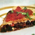 Gluten-Free and Dairy-Free Black Bean & Kale Quesadillas