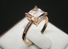 Anillo de compromiso anillo de Morganite 23 por stevejewelry