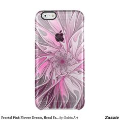 Fractal Pink Flower Dream, floral Fantasy Pattern Clear iPhone 6/6S Case