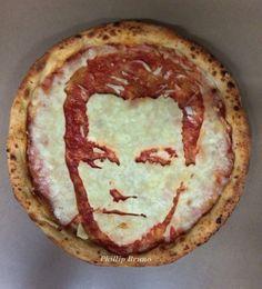 Leonardo DiCaprio... pizza art. Wow....