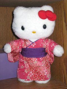 Hello Kitty red kimono plush