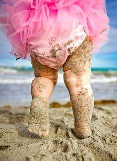 Beach Baby - Pink Tutu & Sand at my feet