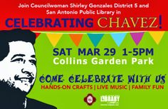 Cesar Chavez March for Justice in San Antonio, Texas and other family events, Saturday, March 29, 1pm - 5pm Collins Garden Park, San Antonio