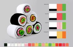 Toalla / Towel. Sushi Rolls
