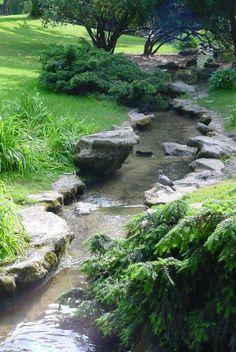 Pond Design, Landscape Design, Garden Design, Back Garden Farming, Ponds Backyard, Backyard Landscaping, Back Gardens, Outdoor Gardens, Photo Voyage