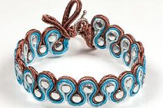 Bracelet with Czech Glass Pellet Beads and Soutache - Fire Mountain Gems and Beads