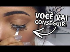 COMO APLICAR CÍLIOS POSTIÇOS | Cheia de Truques - YouTube Mack Up, How To Use Makeup, Canal E, Septum Ring, Salons, Lashes, Personal Care, Make It Yourself, Eyes