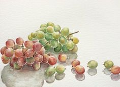 Original watercolor painting of grapeskitchen by WatercolorArtOnly