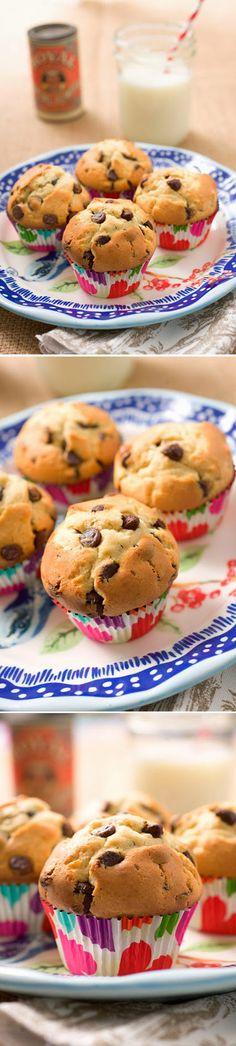 Muffins clásicos con chips de chocolate / http://sugarandspice-celeste.blogspot.com.es/