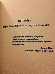 Sevgim acıyor...Battaniye/ Turgut Uyar