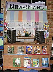 News Stand in the dramatic play area.
