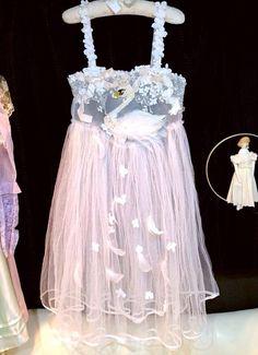 Etsuna Otsuka - Wedding set, sheer jumperskirt in pastel with swan