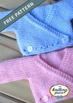 Craft a set of these precious knitted crossover baby cardigans, ideal as a practical last-minute knitted baby shower gift. This easy knitting pattern is perfect for beginner knitters and makes for a lovely project to knit for charity. Baby Knitting Patterns Free Newborn, Baby Cardigan Knitting Pattern Free, Kids Knitting Patterns, Baby Sweater Patterns, Knitted Baby Cardigan, Knit Baby Sweaters, Knitted Baby Clothes, Baby Hats Knitting, Baby Patterns