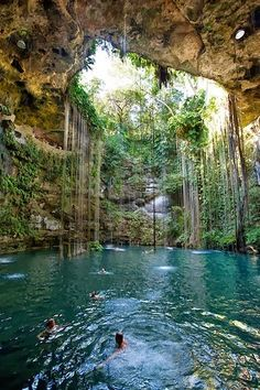 Sagrado Cenote Azul, Cancun <-- i went thereee