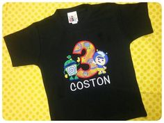 Bot and Geo Birthday Shirt - Great for Team UmiZoomi Themed Birthday Party