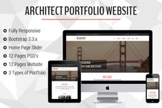 Architect Portfolio Bootstrap by @Graphicsauthor
