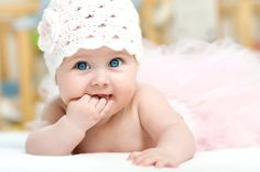 White Baby Girl Hat by TinySmiley on Etsy