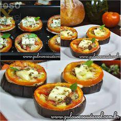 Para um #lanche ou refeição leve. Temos esta Bruschetta de Berinjela, é rápida, mega fácil de fazer e super leve!  #Receita aqui: http://www.gulosoesaudavel.com.br/2012/12/17/bruschetta-berinjela/