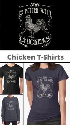 424e4fdc Chicken Funny Design - Life Is Better With Chickens | Slim Fit T-Shirt
