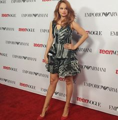 Photos: Debby Ryan So Pretty For The Teen Vogue Young Hollywood Party September 26, 2014