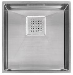 """Franke PKX11016 Stainless Steel PEAK Sink Collection 16-7/8"""" x 17-3/4"""" Single Basin Undermount Kitchen Sink"""
