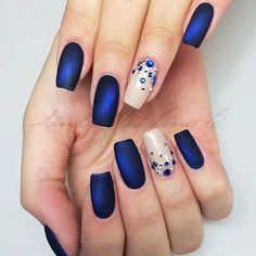 Today we are going to introduce you to some blue nail designs. Cobalt Blue Nails, Blue And White Nails, White Nail Art, White Art, Pink Blue, Nail Art Designs, White Nail Designs, Simple Nail Designs, Blue Stiletto Nails