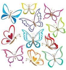 butterfly outlines templates - Google Search