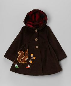 Brown Squirrel Coat - Toddler & Girls by Maria Elena on #zulily