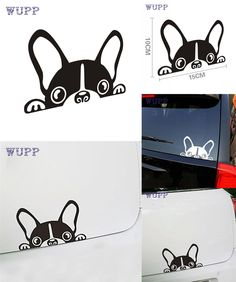 [Visit to Buy] Super Cool Car  Cute Dog Waterproof Car Sticker styling Decal Autocolante de carro Sticker de carro new Fashion Design 17july10 #Advertisement