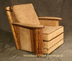 Rustic Club Chair Available at Woodland Creek Furniture.