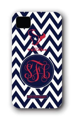 Houston Texans Personalized iPhone Case Cover by ThenComesPaper, $45.00 OMG, who wants to buy this for me?! lol