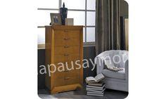 Mueble de dormitorio de Lapausa y Mora, colección Giorno. Composición 04 con acabado en Cerezo envejecido (29).